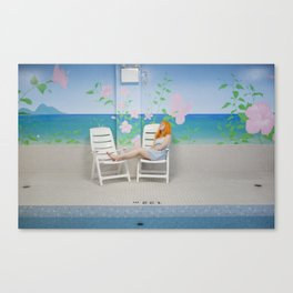 holly as me (indoor pool) Canvas Print