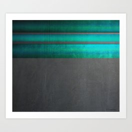 """Architecture, cement texture & colorful II"" Art Print"