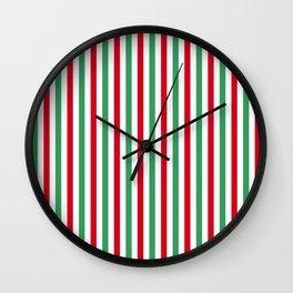 Christmas Small Even Stripes Wall Clock