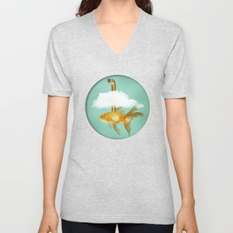 Periscope Goldfish Unisex V-Neck