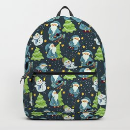 Christmas Winter Pattern Backpack