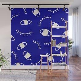 Minimalist Eye Pattern Wall Mural