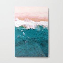 Sea, Pastel Beach Metal Print