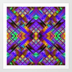 Colorful digital art splashing G480 Art Print