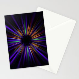 Purple and orange light trails starburst Stationery Cards