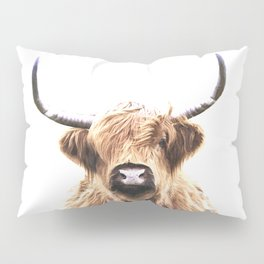 Highland Cow Portrait Pillow Sham