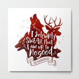 I solemnly swear - white Metal Print