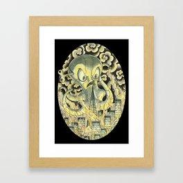 Steamechanical Octopus Framed Art Print