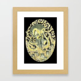 Steamechanical Octopus Framed Art Print