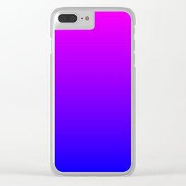 Fuchsia/Violet/Blue Ombre Clear iPhone Case