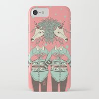 boob iPhone & iPod Cases featuring unicorn boob by Yna Crez