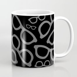 Black Smart Glasses Pattern Coffee Mug