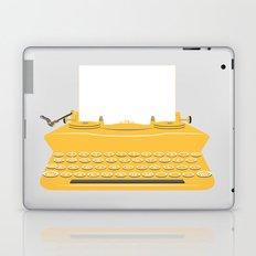 The Lonely Typewriter {mustard} Laptop & iPad Skin