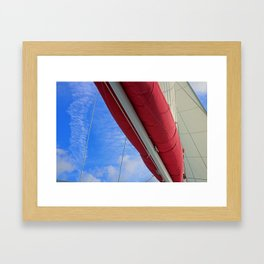 A Cayman Sail III Framed Art Print
