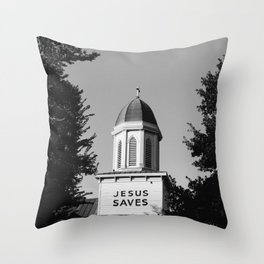 Jesus Saves Charleston Throw Pillow
