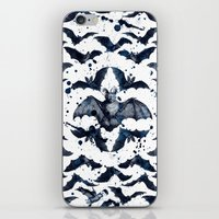 bats iPhone & iPod Skins featuring BATS by DIVIDUS DESIGN STUDIO