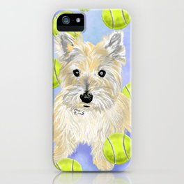 Miss Caroline the Cairn Terrier is Obsessed About Fetching Tennis Balls iPhone Case
