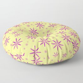 Purple flowers Floor Pillow