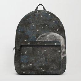Watercolor Space Moon Robayre Backpack