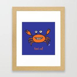 Mr and Mrs Cabby Amanya Design Blue Single FEED ME! Framed Art Print