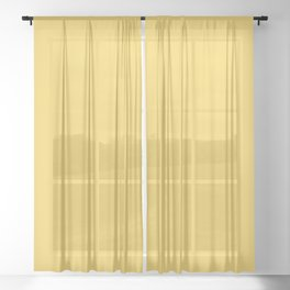 Sunshine Yellow - Solid Color Collection Sheer Curtain