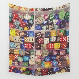 Colorful Dice Wall Tapestry