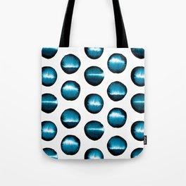 Divine teal dots Tote Bag
