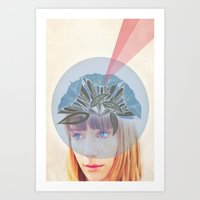 crown Art Prints featuring Crown by Adelle Rae