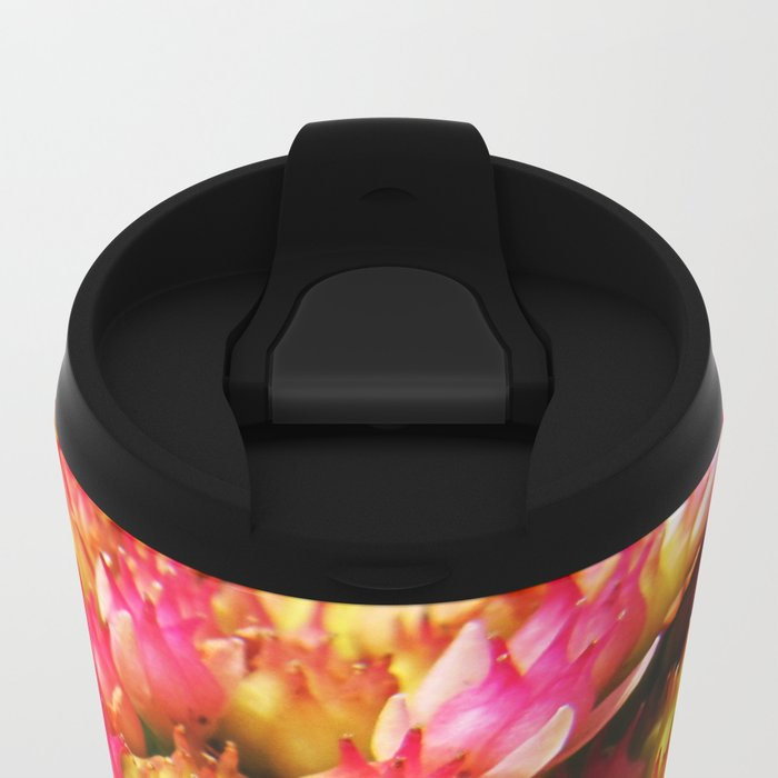 small pink flowers Metal Travel Mug