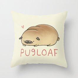 Pugloaf Throw Pillow