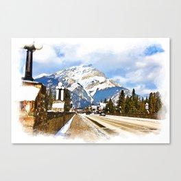 Cascade Mountain - Banff  Alberta Canada Canvas Print