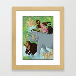 Jungle Woman Framed Art Print