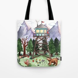 Mountain Lookout Tote Bag