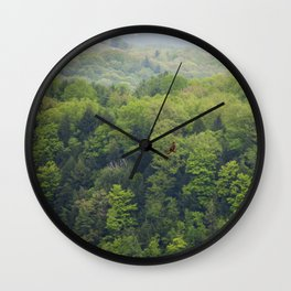 Flying Above the Tree Tops - Spring Trees  Wall Clock