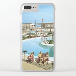 1960's Caribbean Motel in Wildwood, New Jersey Clear iPhone Case