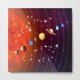 Planeten Metal Print