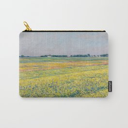 Gustave Caillebotte - The plain of Gennevilliers, yellow fields Carry-All Pouch