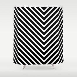 Black & White Zig Zag Shower Curtain