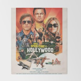 Once Upon a Time in Hollywood Throw Blanket