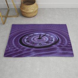 Hands of Time Purple Rippling Water Art Motif Rug