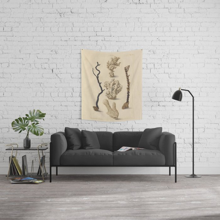 Naturalist Coral Wall Tapestry