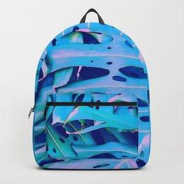 Monstera Blue Backpack