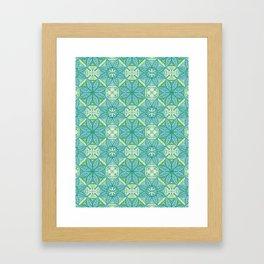 Green Lisbon Tile Geometric Print Framed Art Print
