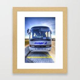 Malev Airlines Bus Framed Art Print