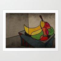 fruit Art Prints featuring Fruit by Matt Jeffs