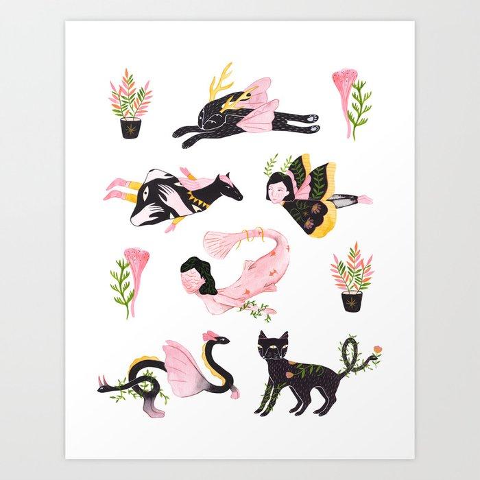 Distant cousins Art Print
