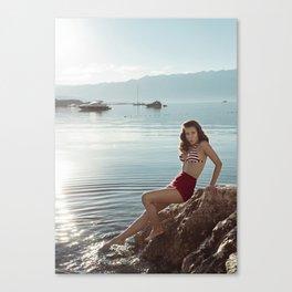 Morning Swim Canvas Print
