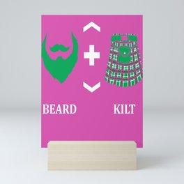 Beard Kilt Lover Scotish Bagpipe Gift Mini Art Print