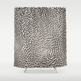 shifting dots in black and white Shower Curtain