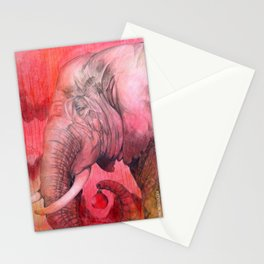 Old Elephant's Christmas Stationery Cards